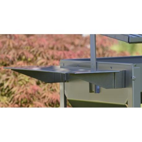 Mesas laterales de acero inox Baluja