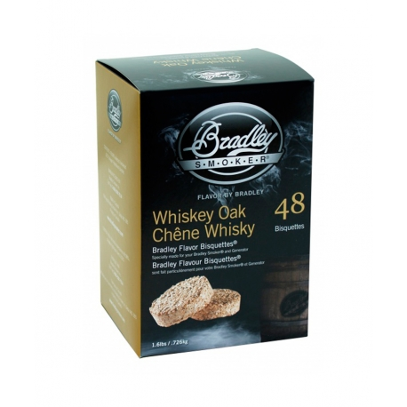 Briquetas Bradley Smoker sabor Whiskey Oak 48