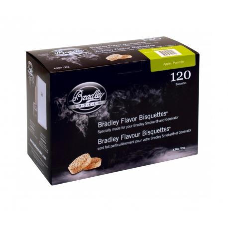 Briquetas Bradley Smoker sabor Manzano 120