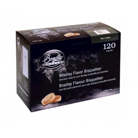 Briquetas Bradley Smoker sabor Roble 120